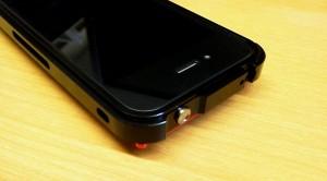 iPhone4S用アルミフレームケースアップ画像