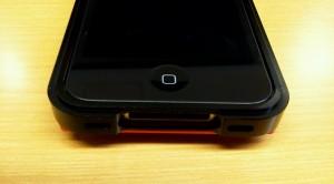 iPhone4S用アルミフレームケースアップした部分画像