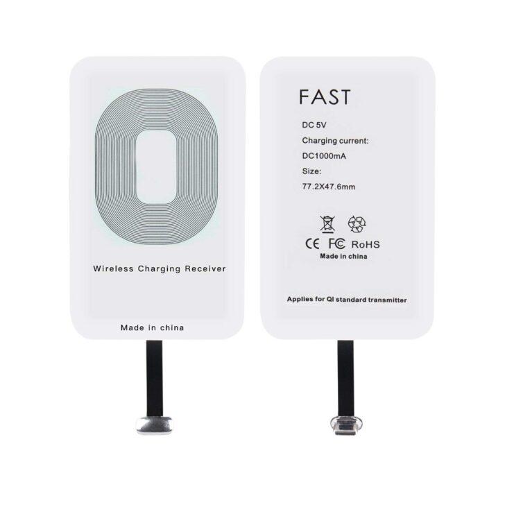 Ewin Type-C専用Qi レシーバー ワイヤレス充電レシーバー 置くだけ充電可能 極薄