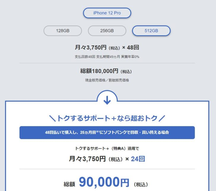 iPhone12トクするサポート+