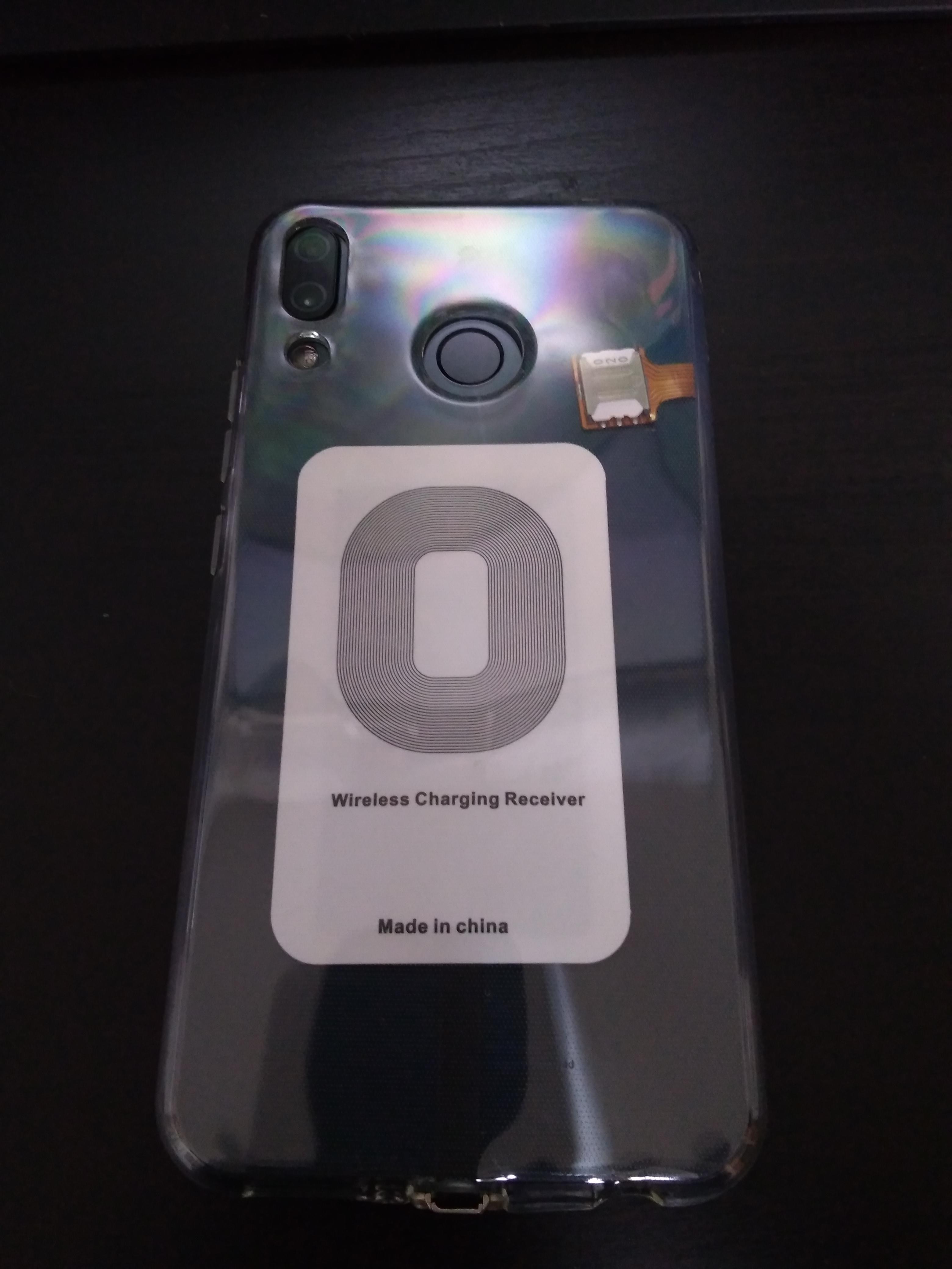 Zenfone5Zにワイヤレス充電レシーバー 装着